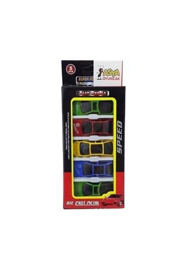 ASYA Oyuncak Asya Oyuncak 06632Ba1205 5'Li Renkli Oyuncak Araba Renkli